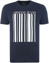 Armani Jeans Regular Fit Barcode Logo T-shirt