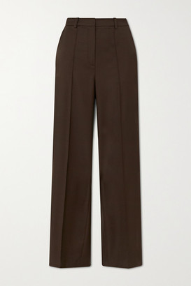 LOULOU STUDIO Wool-twill Wide-leg Pants - Brown
