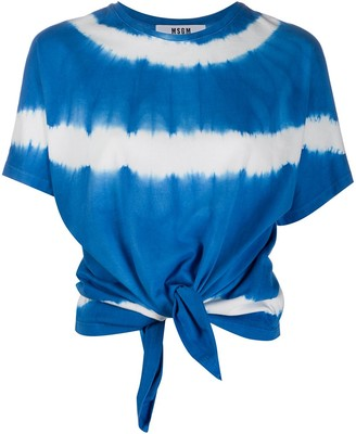 MSGM tie-dye knotted T-shirt