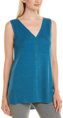 Lafayette 148 New York Relaxed Linen-Blend Sweatervest