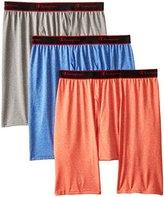 Champion Men's 3 Pack Active Performance Long Leg Boxer Briefs