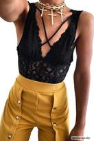 Forever 21 Strappy Sheer Lace Teddy