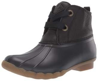 Sperry Women's Saltwater 2-Eye Leather Black Boot