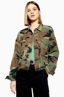 Topshop TALL Camouflage Jacket