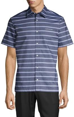 Calvin Klein Jeans California Stripe Chambray Short-Sleeve Shirt