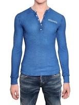 DSquared Serafino Ribbed Cotton Linen T-Shirt