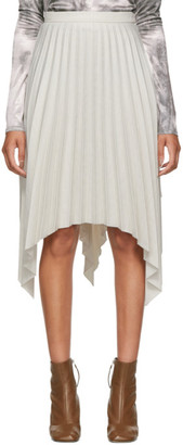 Acne Studios Grey Pleated Suiting Skirt