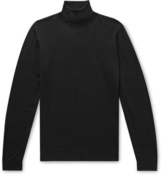 HUGO BOSS Slim-Fit Virgin Wool And Silk-Blend Rollneck Sweater