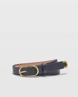 Club Monaco Oval Buckle Leather Belt