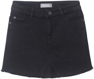 DL1961 Cutoff Black Denim Skirt