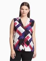 Calvin Klein Plus Size Abstract V-Neck Cami Top