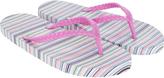 Accessorize Pastel Multi Stripe EVA Flip Flops