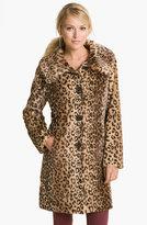 Faux Leopard Fur Walking Coat (Online Exclusive)