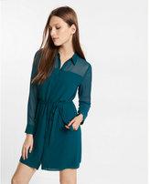 Express long sleeve mini shirt dress
