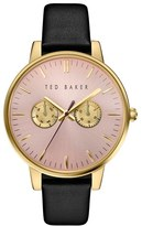 Ted Baker Women's 'Dress Sport' Multifunction Leather Strap Watch, 40Mm