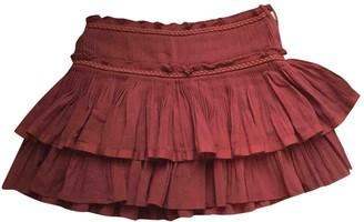 Isabel Marant Burgundy Cotton Skirt for Women