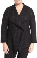 Lafayette 148 New York Garcell Metallic Tweed Jacket, Black