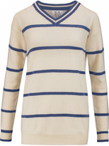 Zoe Karssen Striped wool and cashmere-blend sweater