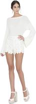 Alice + Olivia Melania Bell Sleeve Sweater