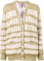Gucci Loved oversized lurex cardigan - women - Silk/Polyamide/Wool/Metallic Fibre - S