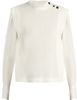 Isabel Marant Belissa high-neck crepe top