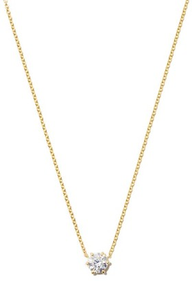 Jade Trau Penelope Diamond Solitaire & 18kt Gold Necklace - Yellow Gold
