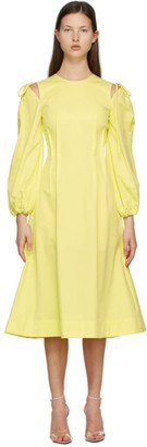 MSGM Yellow Cut-Out Dress