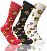 COUVER Mens Mixed Funny Colorful Novelty Crew Casual Patterned Socks 3 Pair Bundle