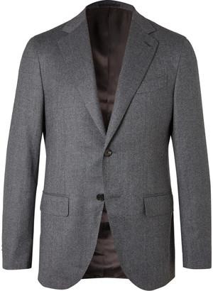 Caruso Birdseye Wool Suit Jacket
