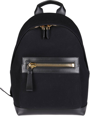 Tom Ford Black Leather Backpack