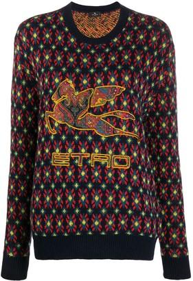 Etro Patterned Logo Jumper