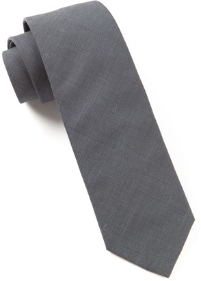 The Tie BarThe Tie Bar Metallic Grey Solid Cotton Tie