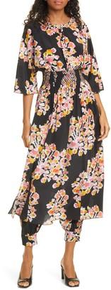 DYVNA Floral Silk Romper Dress
