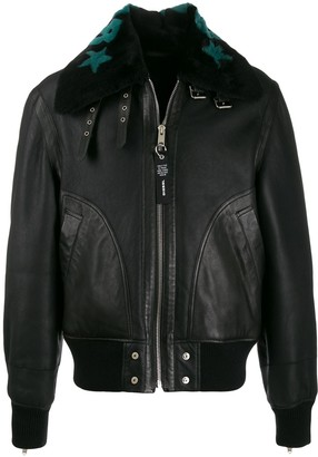 Diesel Shearling Leather Aviator Jacket
