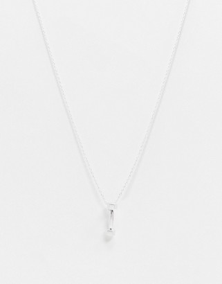 Vibe + Carter Vibe and Carter neckchain in silver with dumbbell pendant exclusive to ASOS