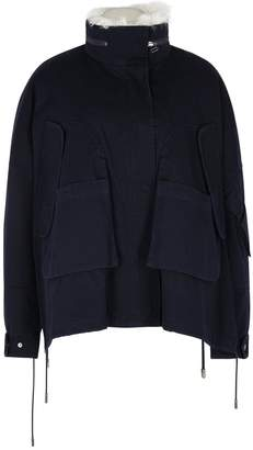Yves Salomon Shearling And Fur-lined Twill Coat