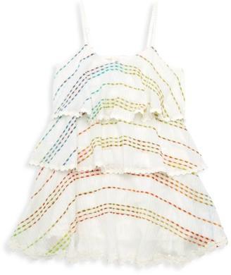 HEMANT AND NANDITA Little Girl's & Girl's Tera Tiered Dress