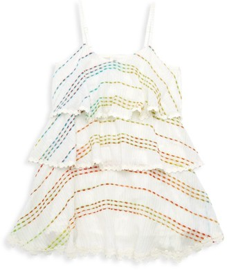 HEMANT AND NANDITA Little Girl's & Girl's Tera Tiered Dress