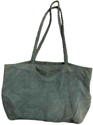 Zadig & Voltaire Daily Green Suede Handbags