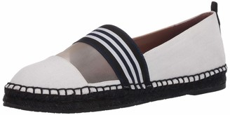 ZAC Zac Posen Women's Aline Flat Espadrille with mesh and Ribbon Details Loafer