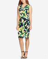 American Living Floral-Print Cowl-Neck Dress