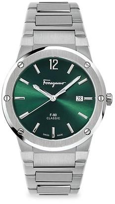 Salvatore Ferragamo F-80 Classic Stainless Steel Bracelet Watch