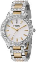 Fossil Women's Jesse Two Tone Stainless Steel Bracelet Watch 34mm ES2409