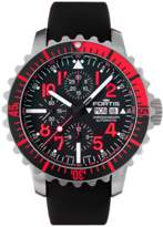 Fortis B-42 Marinemaster Red Chronograph.
