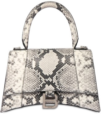 Balenciaga S Hourglass Python Print Leather Bag