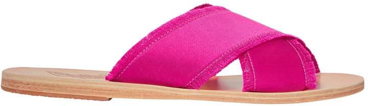 Ancient Greek Sandals Thais Satin Pink Sandals
