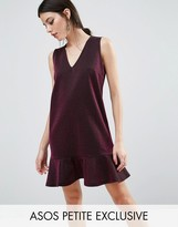 Asos Metallic Dress with Pep Hem