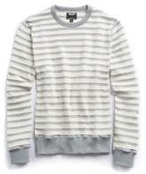 Todd Snyder Textured Stripe Crew in Grey