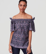LOFT Painterly Floral Off The Shoulder Top