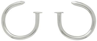 MM6 MAISON MARGIELA Silver Nail Earrings